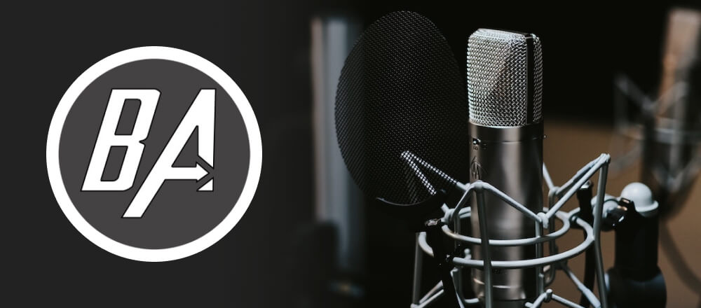 Blind Abilities Podcast logo with a photo of a microphone in a sound studio.